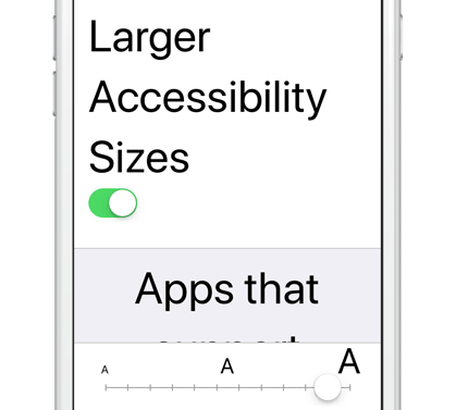 Accessibility Large Text