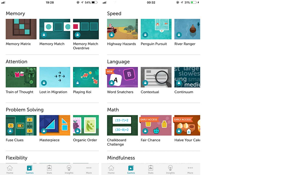 App Lumosity Content11