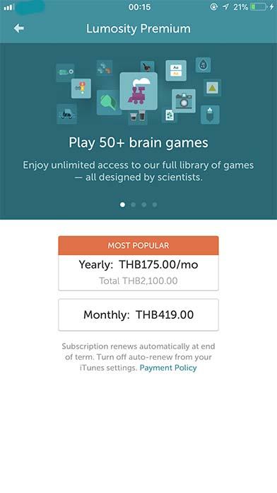 App Lumosity Content9