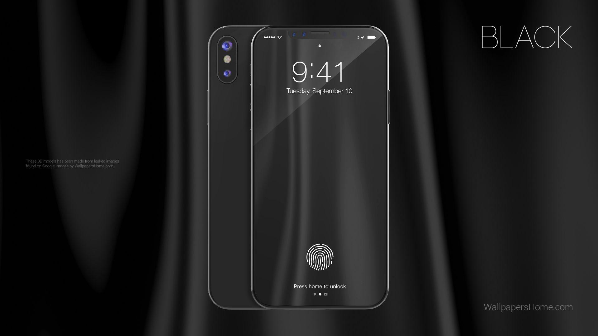 Iphone X Renders Black