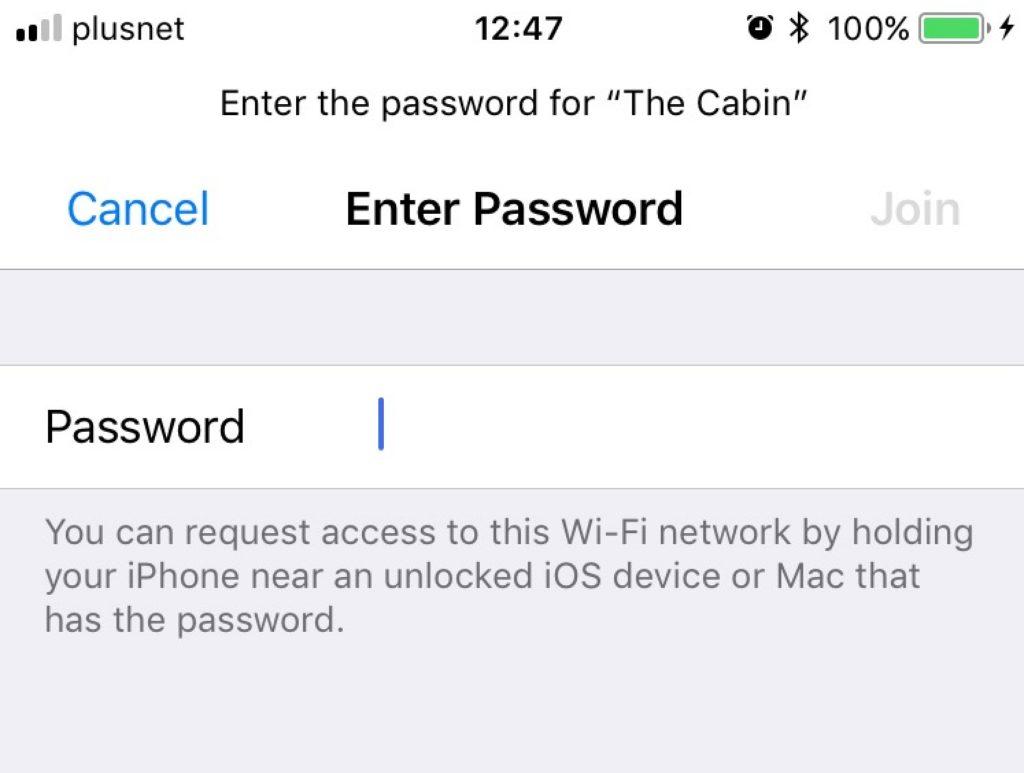 Ios 11 Wifi On Iphone Sharing