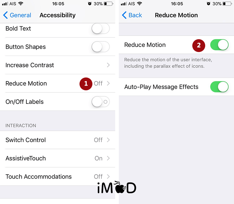 Set Reduce Motion After Update Ios 11