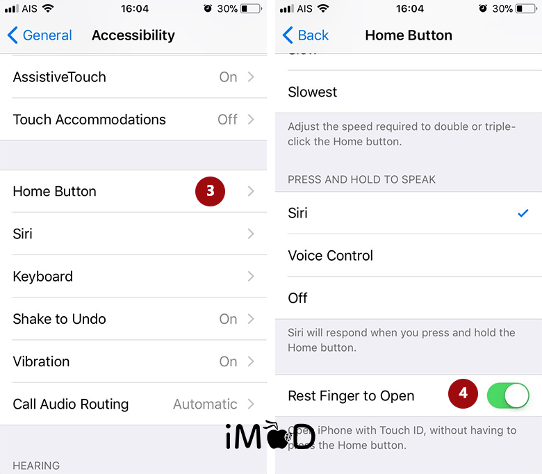 Set Rest Finger To Open 2 After Update Ios 11