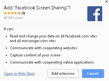 Facebook Live Screenshare