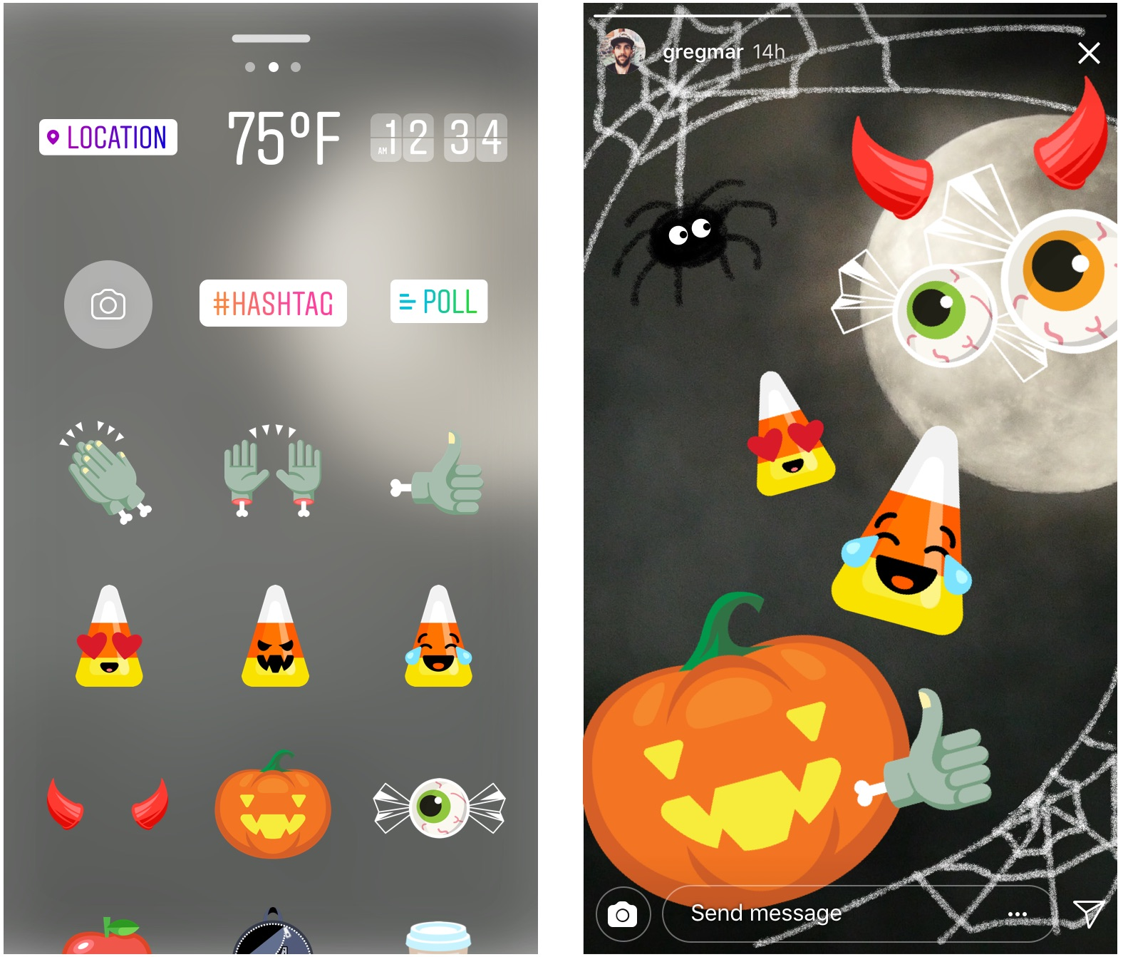 Instagram Halloween Stickers
