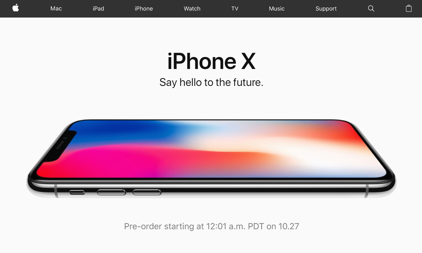 Apple Website Promote Iphone X Pre Order 1