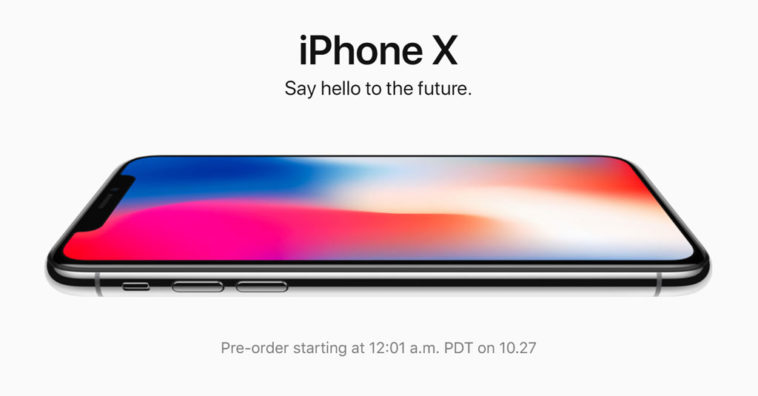Apple Website Promote Iphone X Pre Order