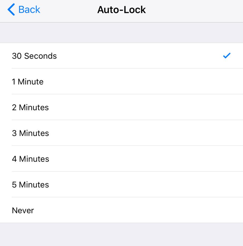 Ios 11 Auto Lock Settings1