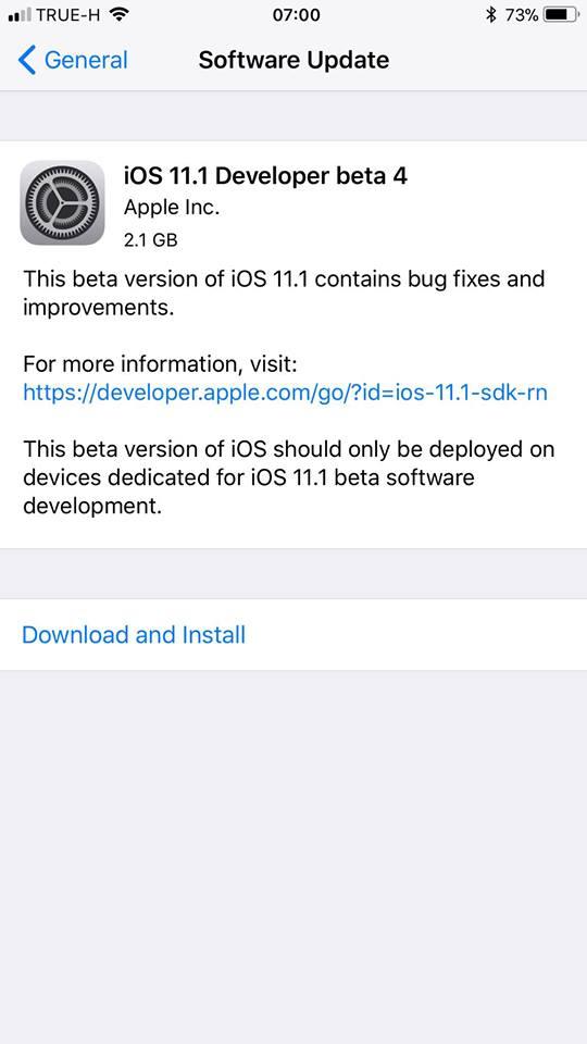Ios11 1 Beta 4 1