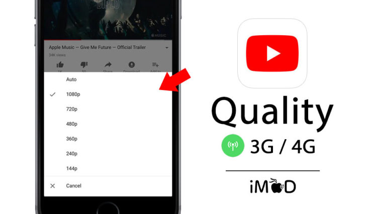 Youtube 12 40 Choose Quality While Connect Cellular