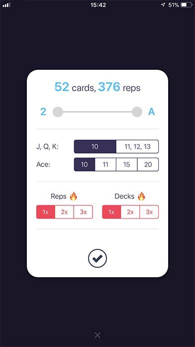 App Sweatdeck Setting3