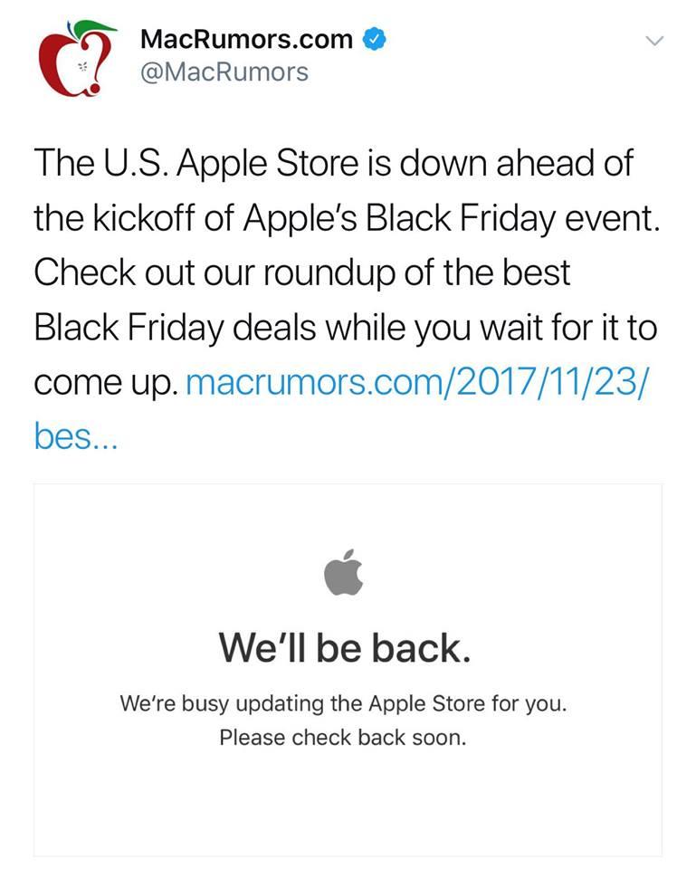 Apple Close Us Store Black Friday