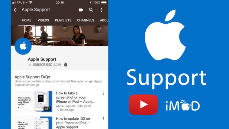 Apple Support Youtube Channel Cover