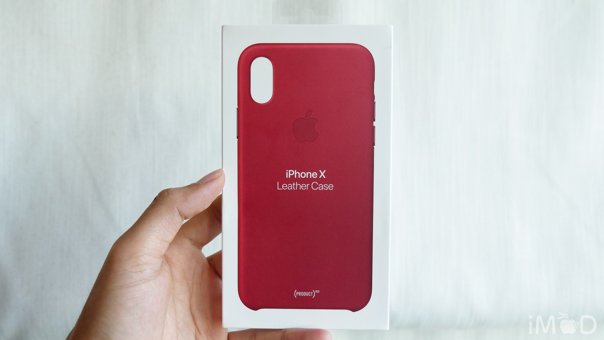 Iphone X Leather Case Product Red 6561