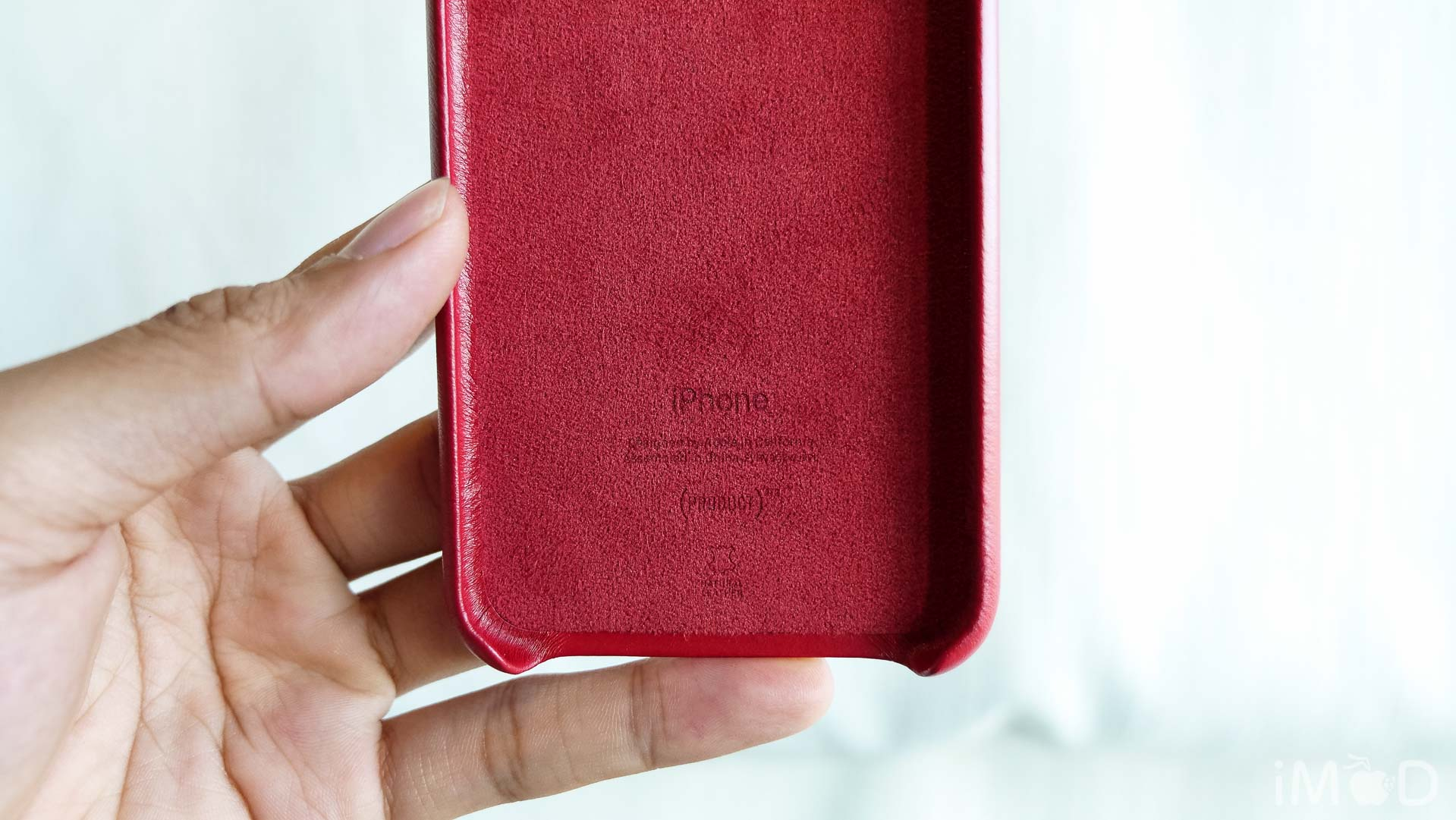 Iphone X Leather Case Product Red 6570