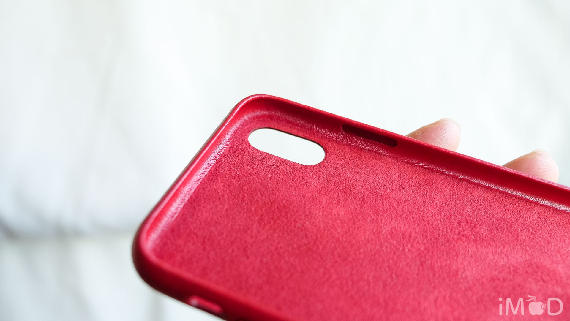 Iphone X Leather Case Product Red 6574