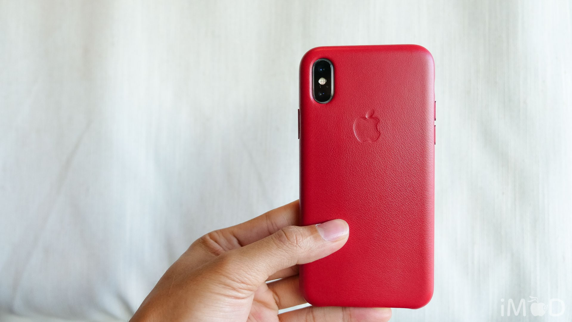 Iphone X Leather Case Product Red 6580