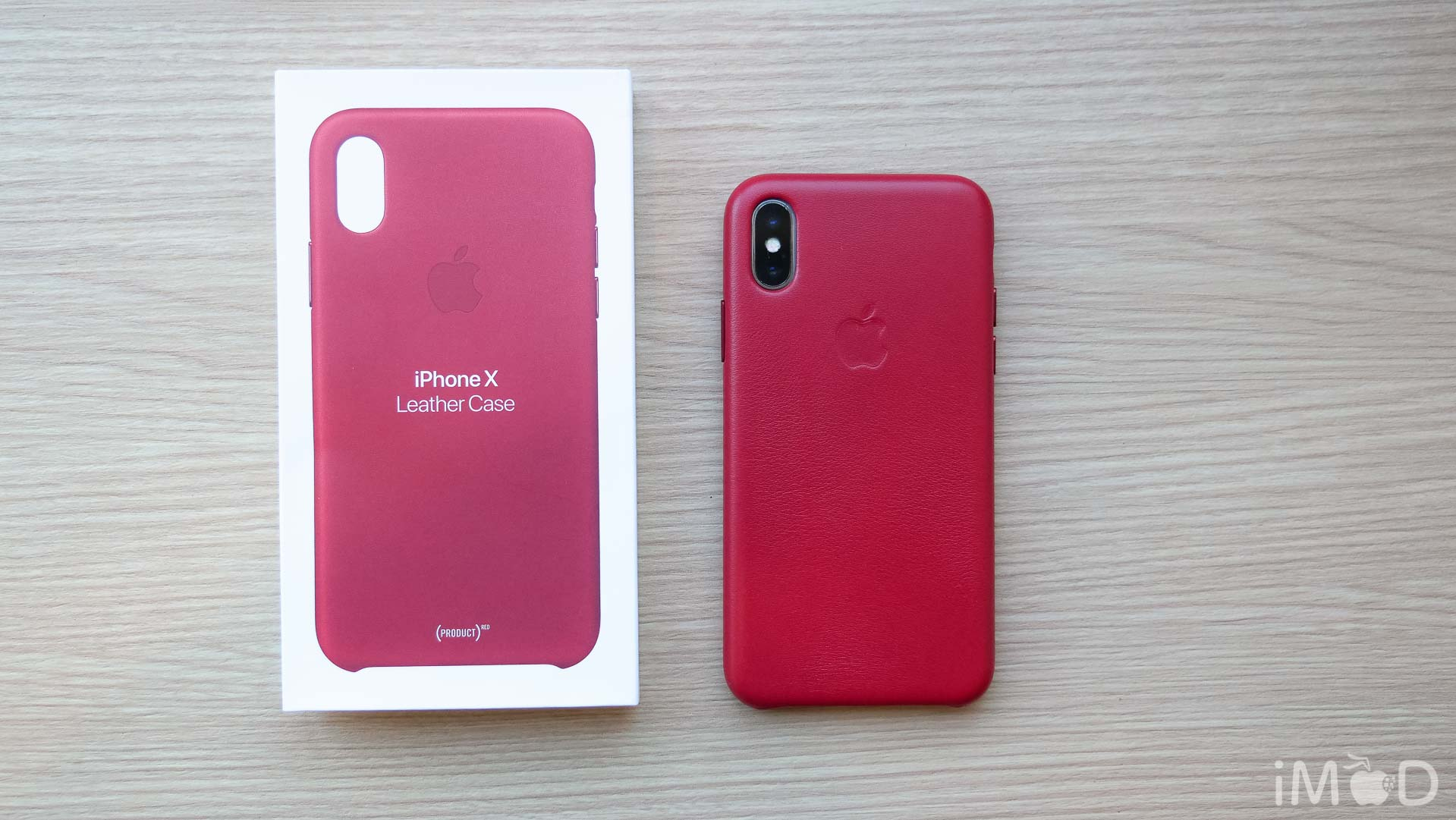 Iphone X Leather Case Product Red 6590