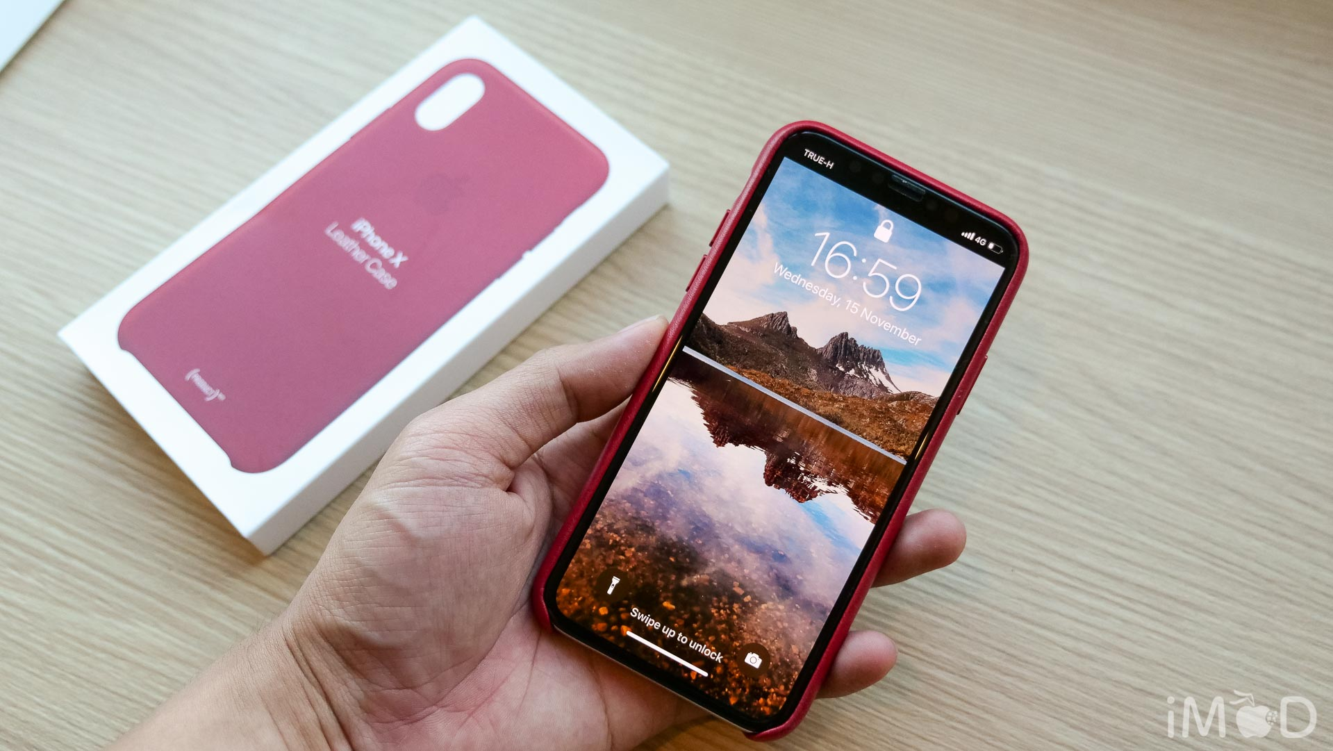 Iphone X Leather Case Product Red 6597