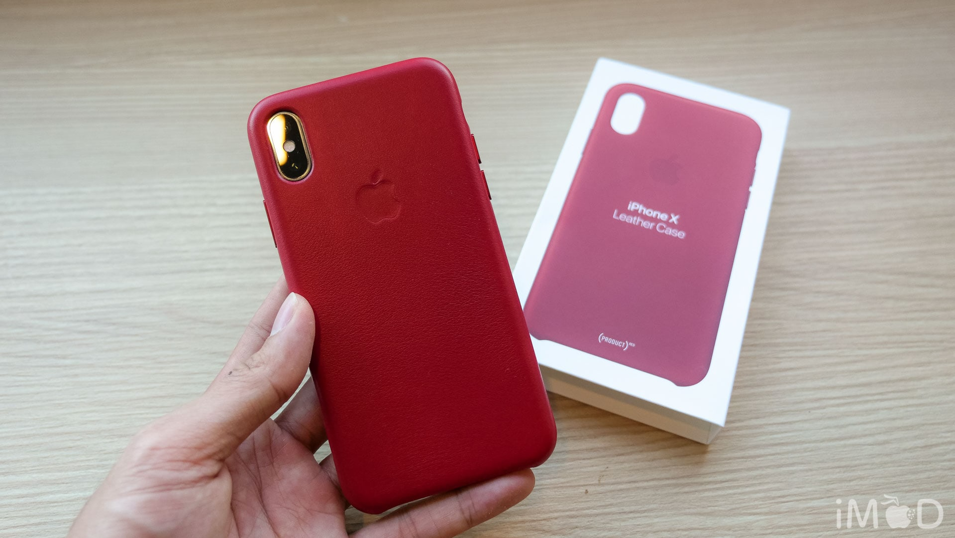 Iphone X Leather Case Product Red 6599