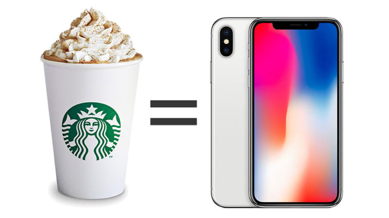 Iphone X Coffee Cost
