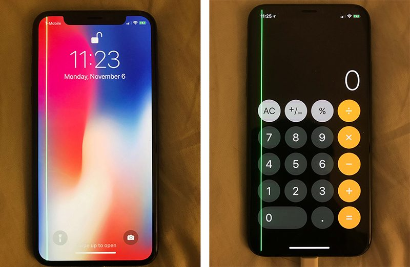 Iphone X Green Line Issue 1