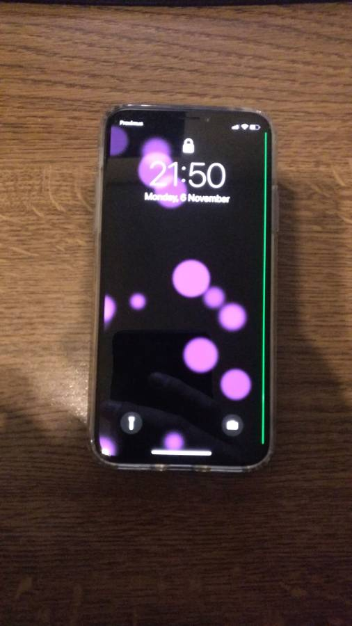 Iphone X Green Line Issue 6