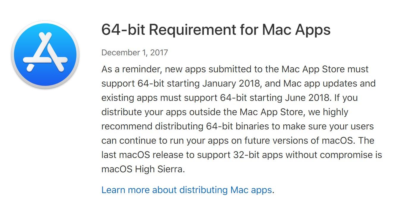 64 Bit Mac App 2018 1