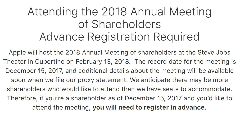 Apple Investor Meeting 2018