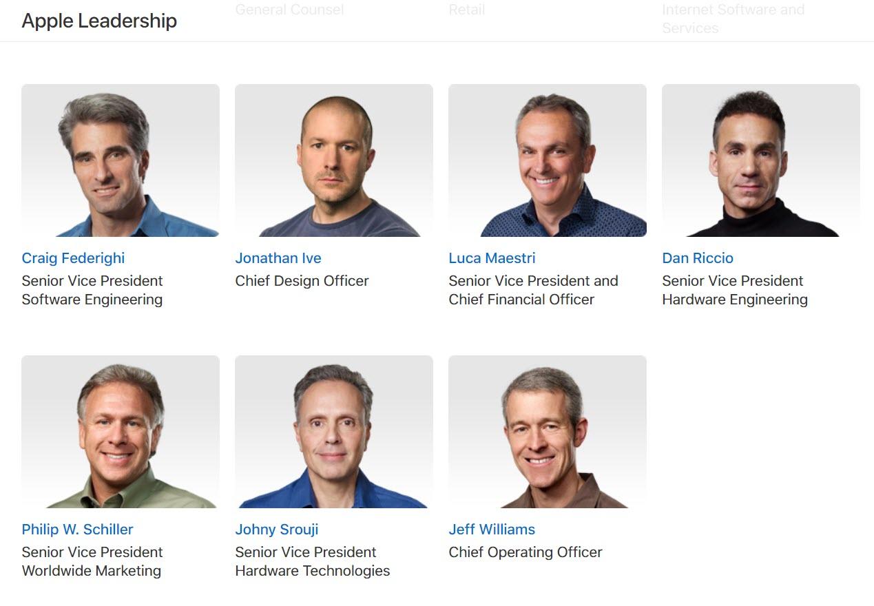 Apple Leaderships