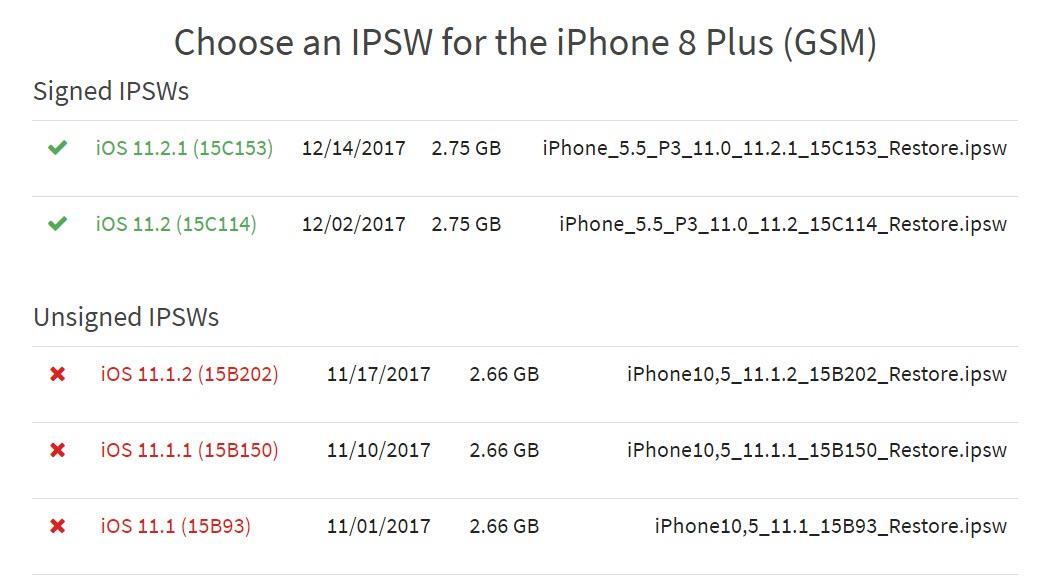Apple Stop Signing Downgrade Ios 11 1 2 1