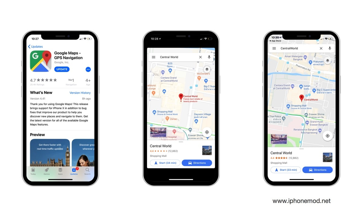 Google Maps Iphone X Screenshot