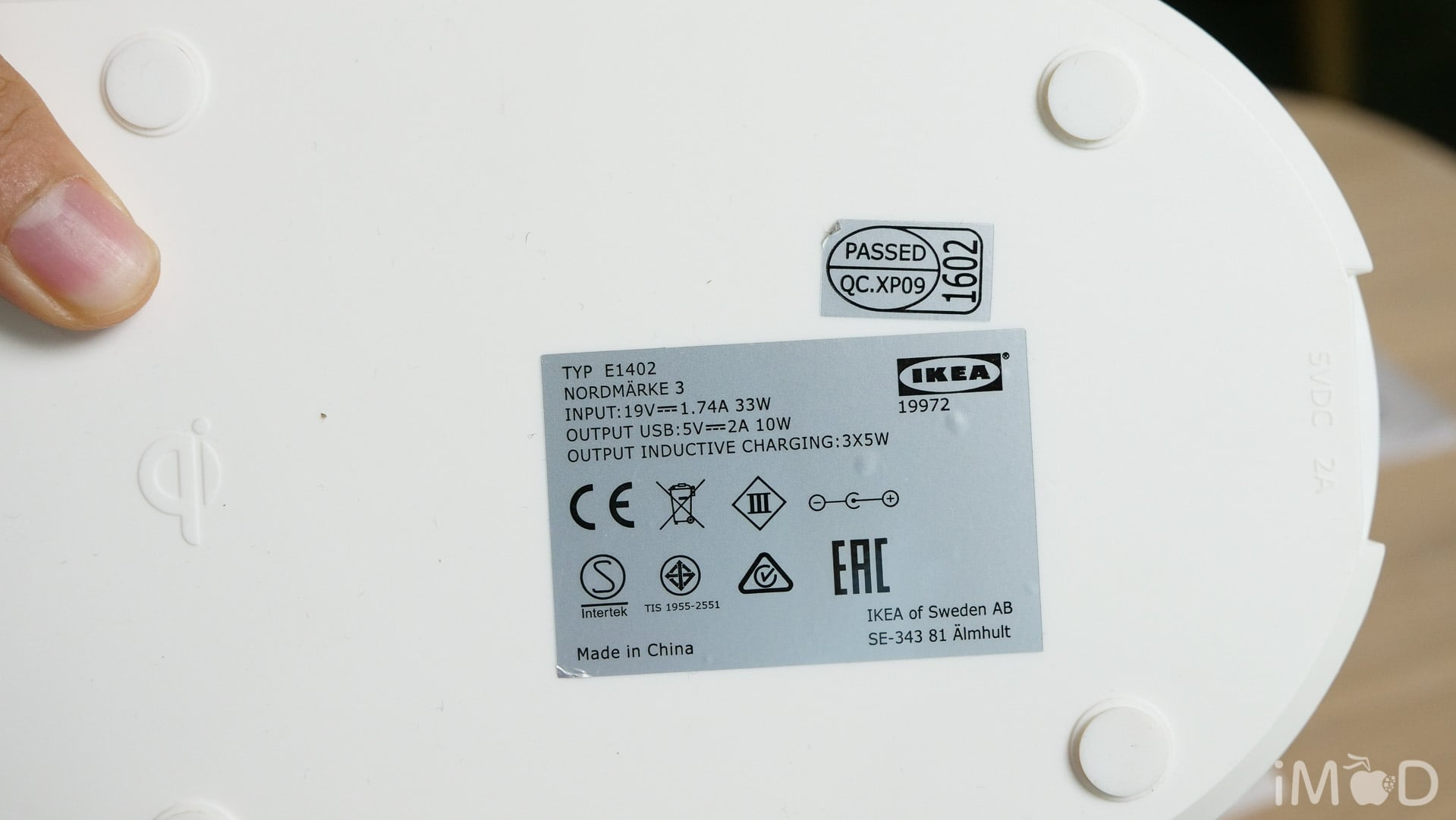 Ikea Wireless Charge Test 7486