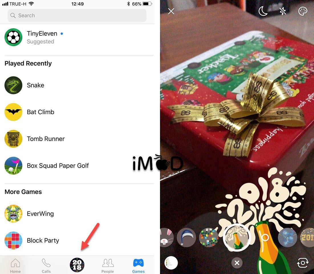 Messenger 2018 New Year Effect 1