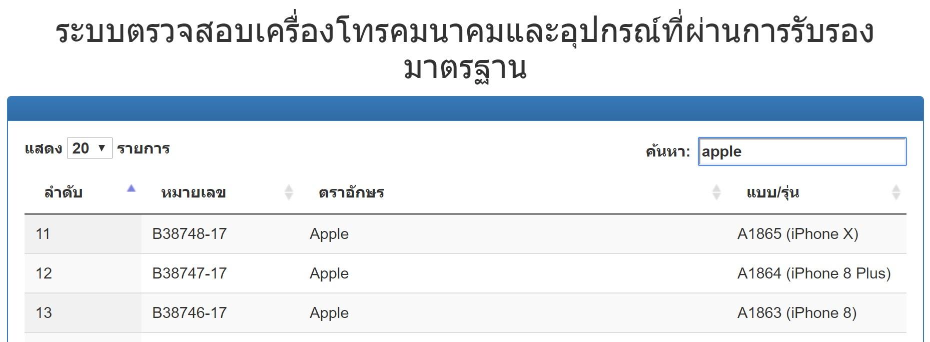 Nbtc Approve Iphone 8 Iphone X Qualcomm Modem Th 1
