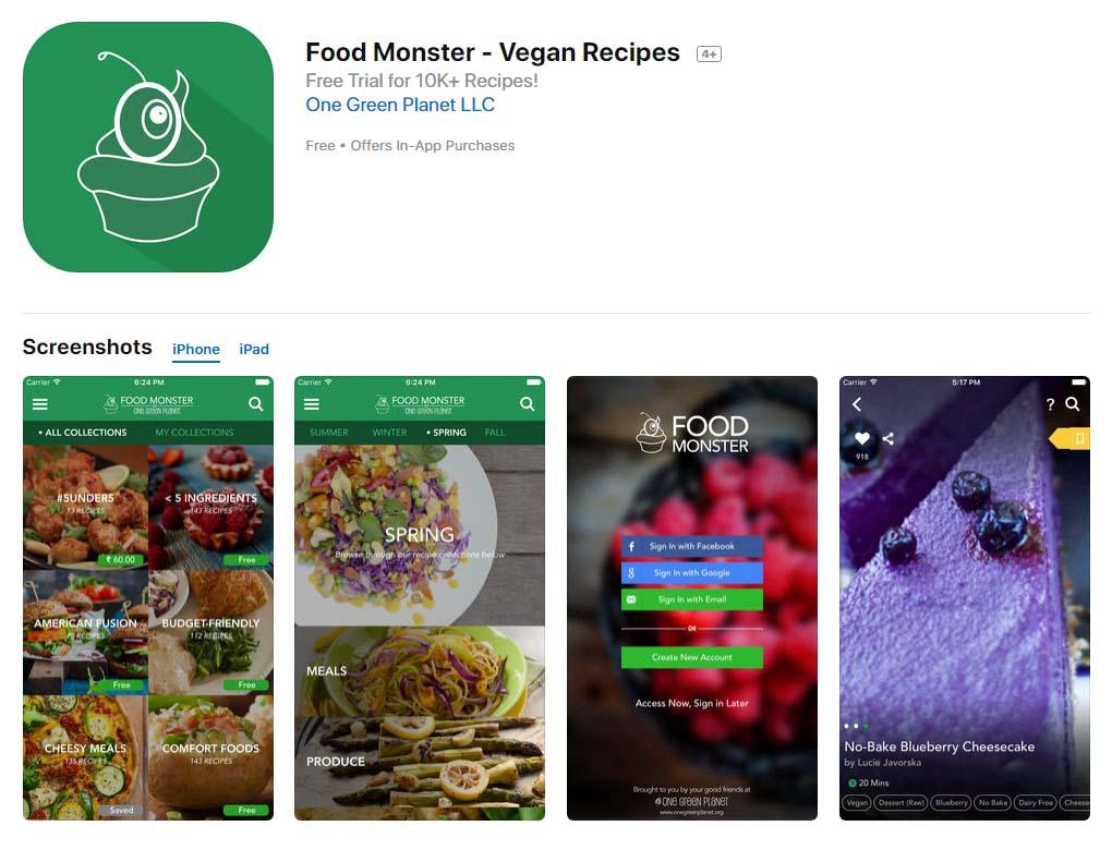 App Foodmonster Content1
