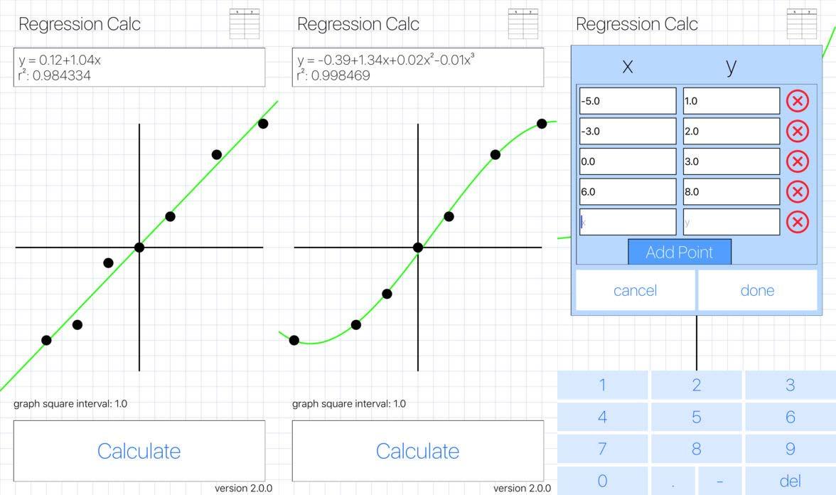 App Regressioncalc Content1