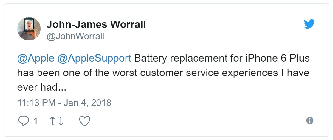 Apple Battery Replacement User Complain 2