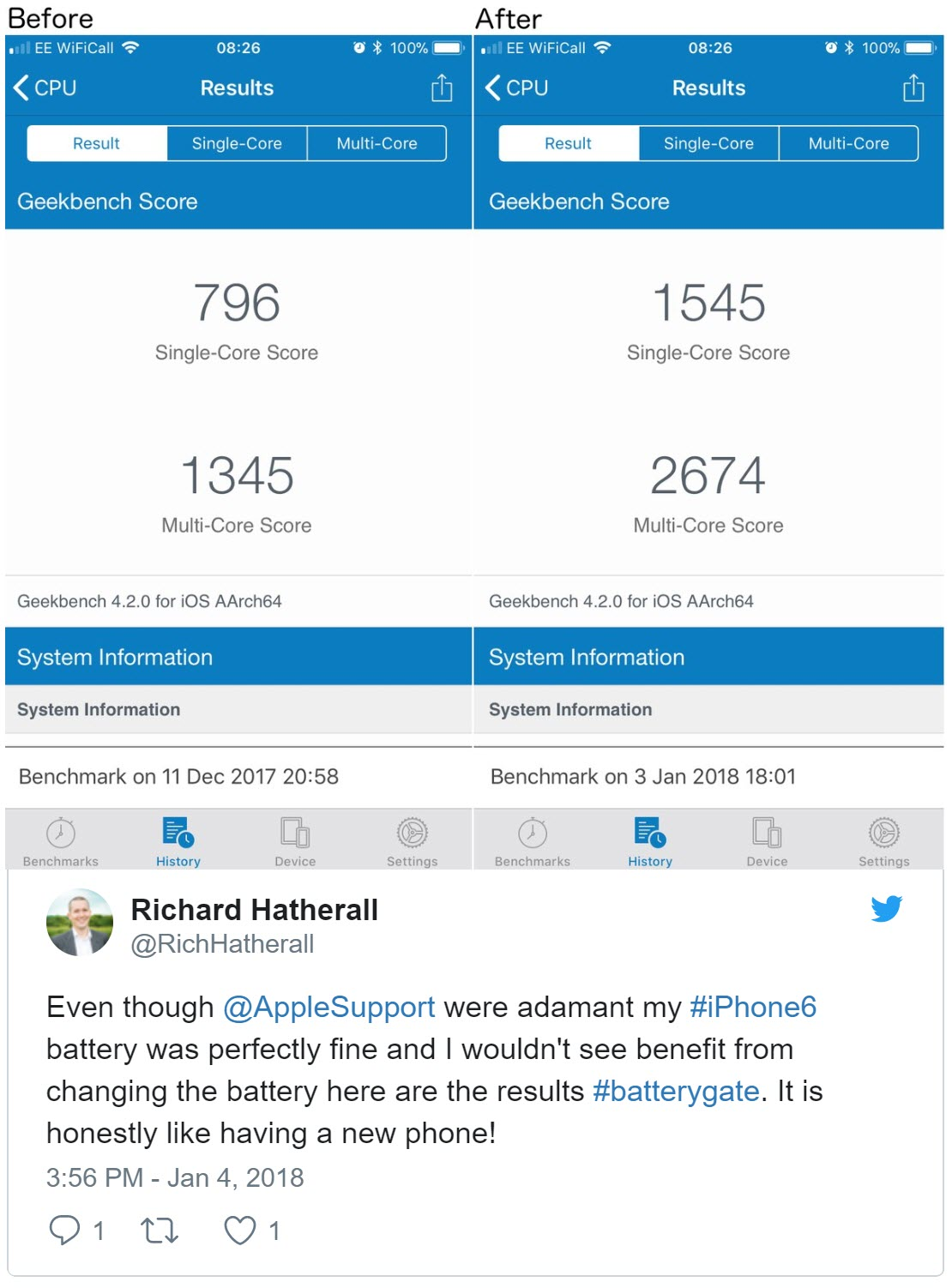 Apple Battery Replacement User Complain 4