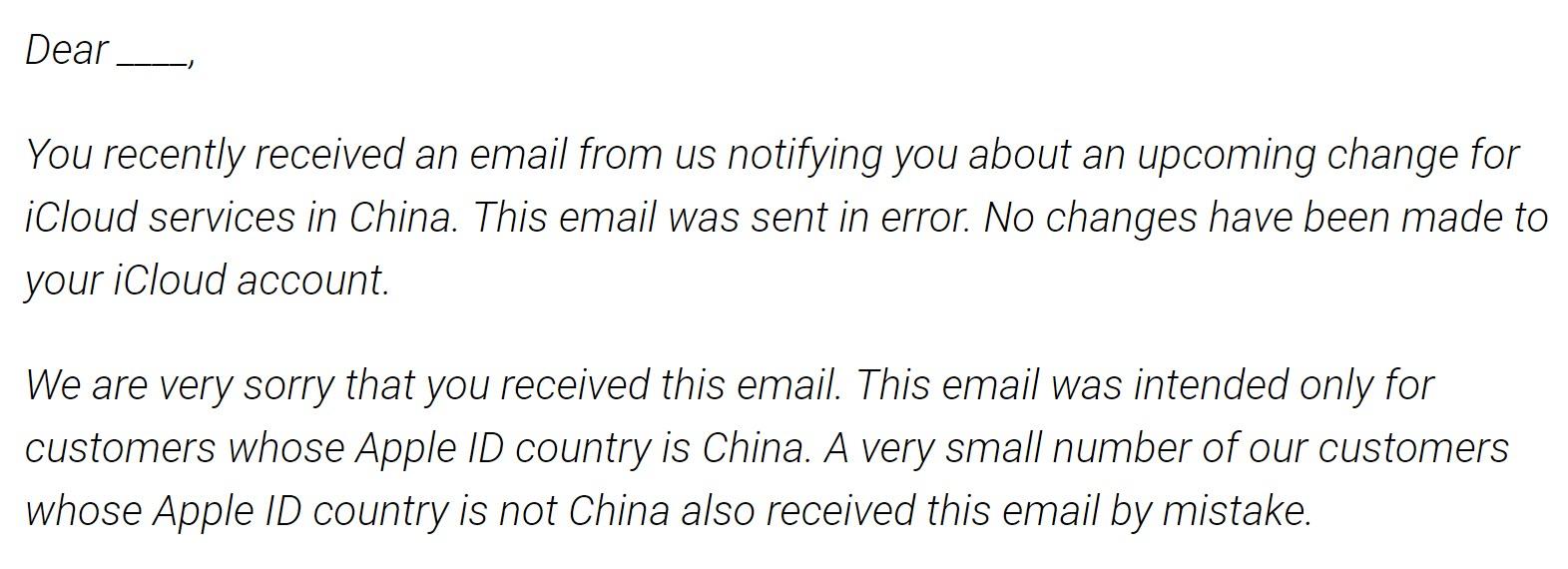 Apple Said Icloud Migration To China Error 1