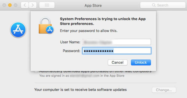 Bug Macos High Sierra Unlock App Store Preferences With Any Password