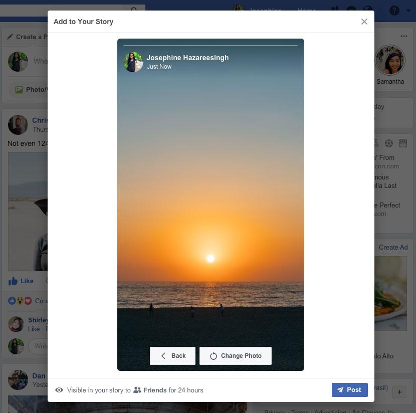 Facebook Stories Desktop Post Cover