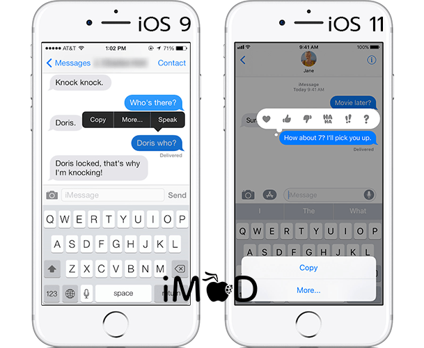 How To Copy Message Imessage Ios 11 4