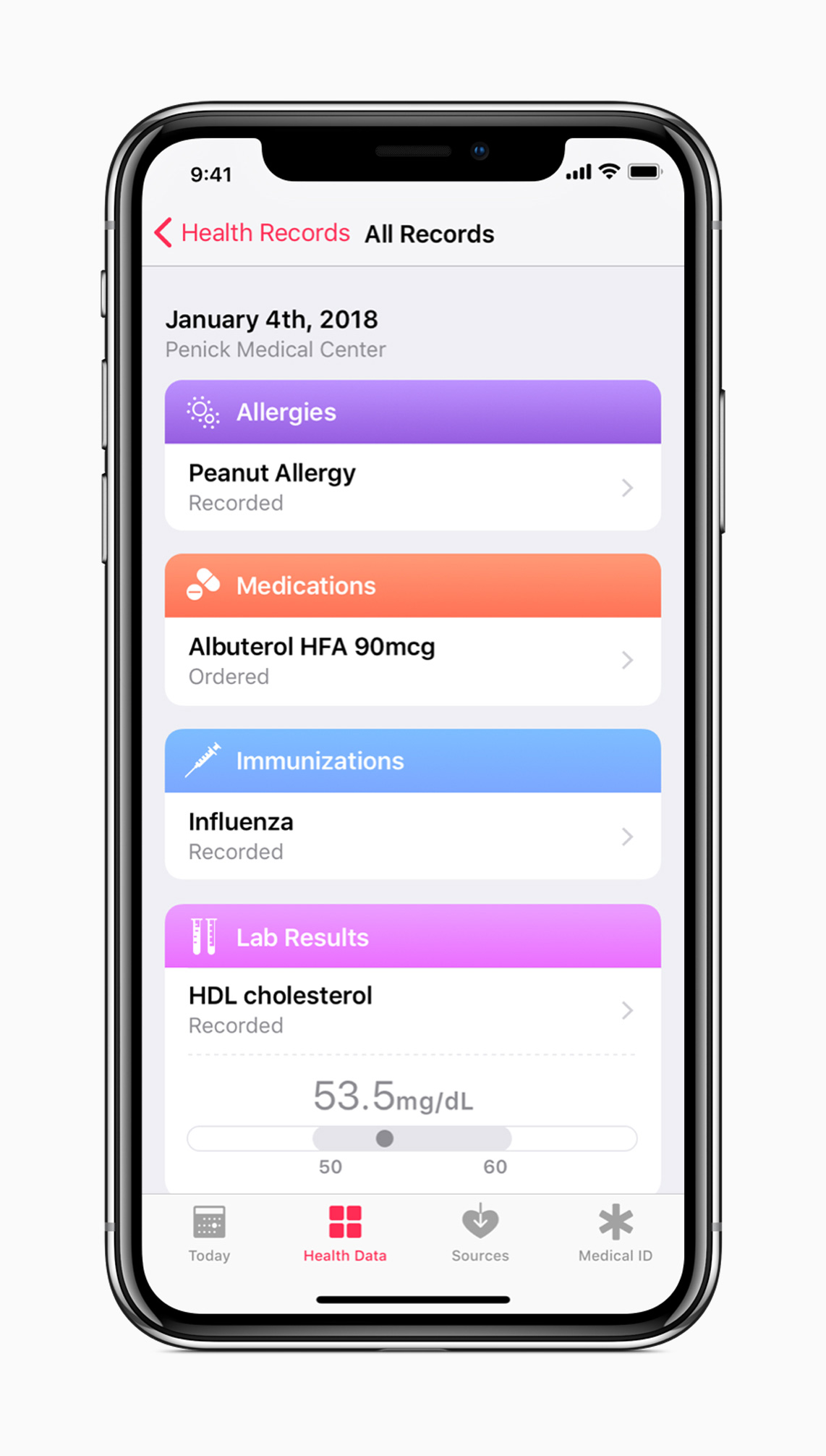 Iphone X Health Records Screen 01232018