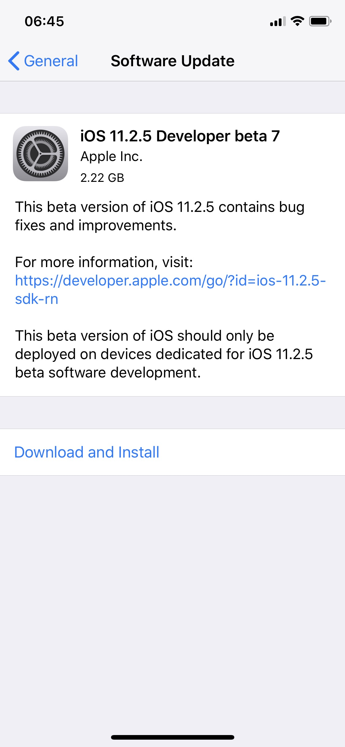Ios 11 2 5 Beta 7 Gm 1