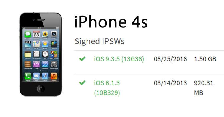 ผู้ใช้ iPhone 4s ยังสามารถดาวน์เกรดกลับไป iOS 6 1 3 ได้อยู่