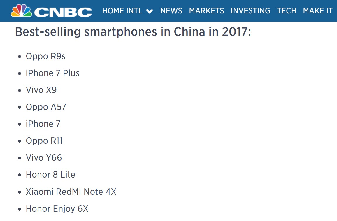 Iphone 7 Plus 2nd Bestselling Smartphone China 2017 1