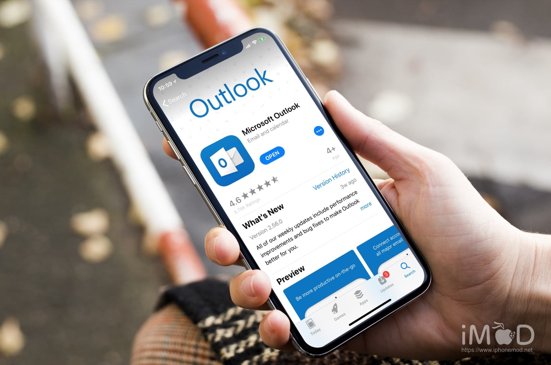 Microsoft Outlook Iphone X