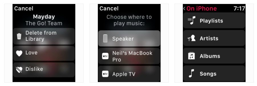 Watch Os 4 3 Beta Music Library Control 2