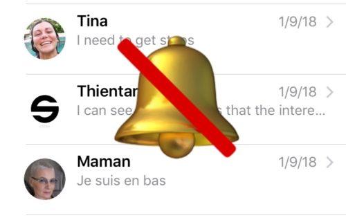 Hide Alerts For Messages